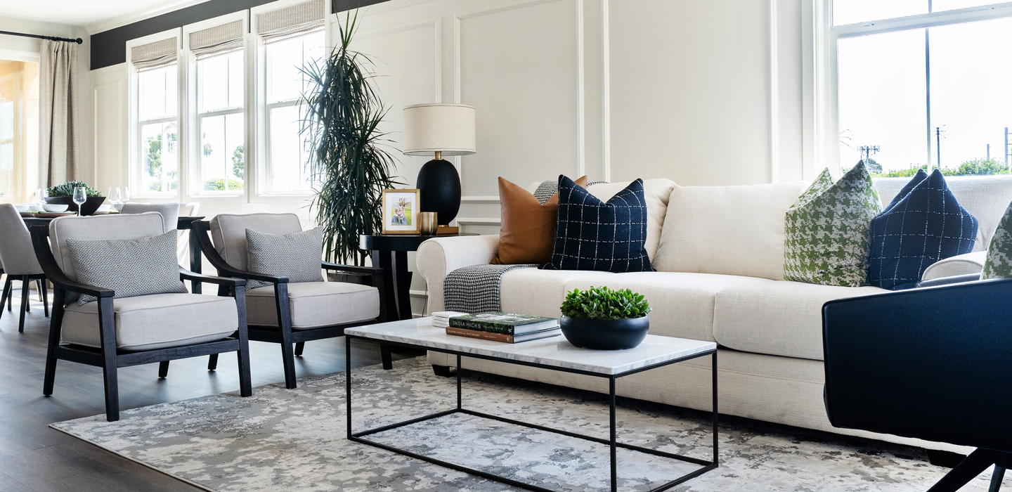 The Cottonwood - Living Room with couch and coffee table