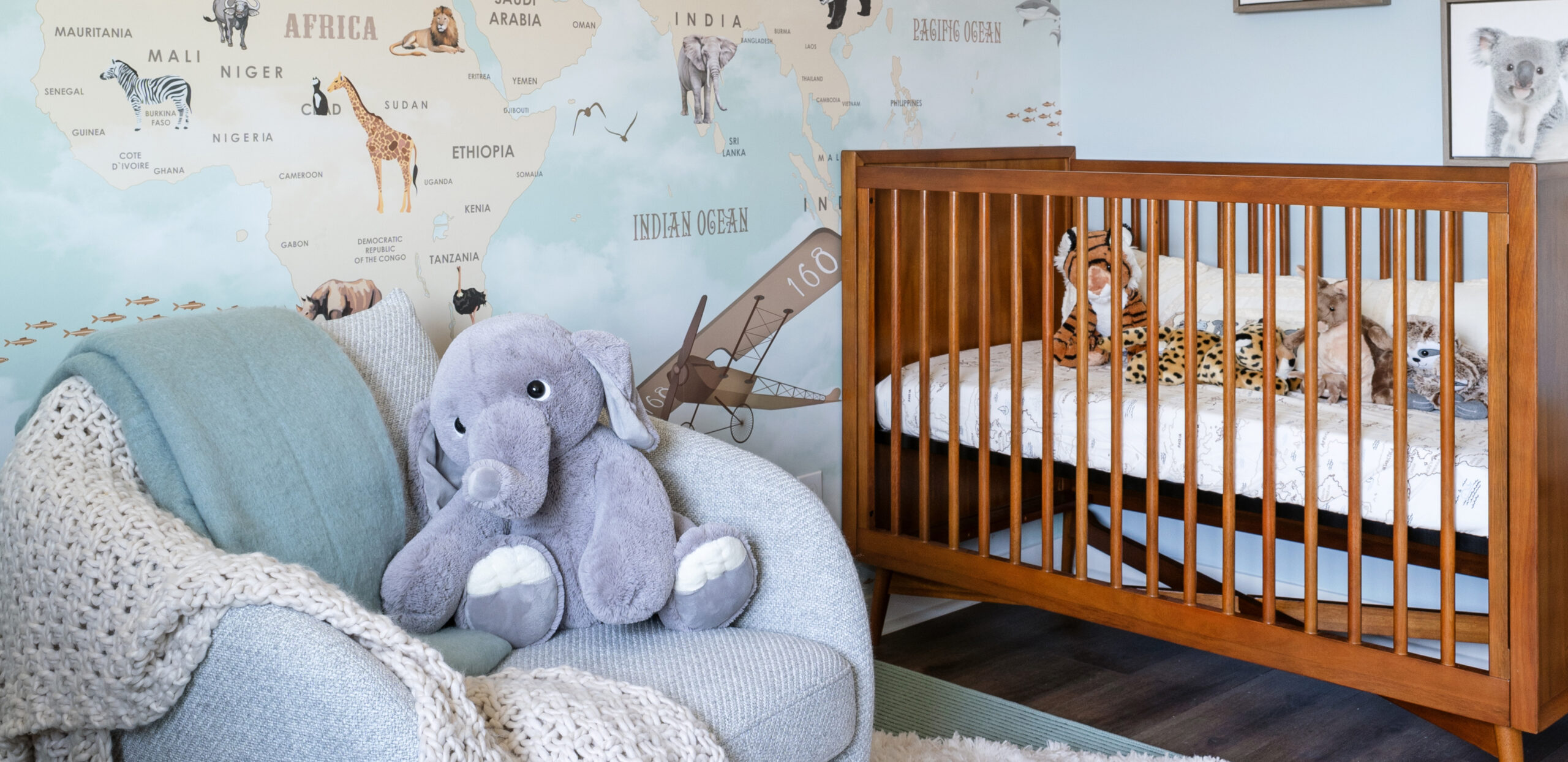 The Cottonwood - Third Bedroom decorated as nursery